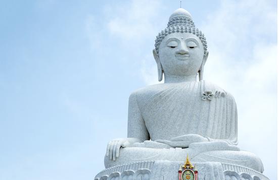Den ikoniske Big Buddha på Phuket langtidsferie